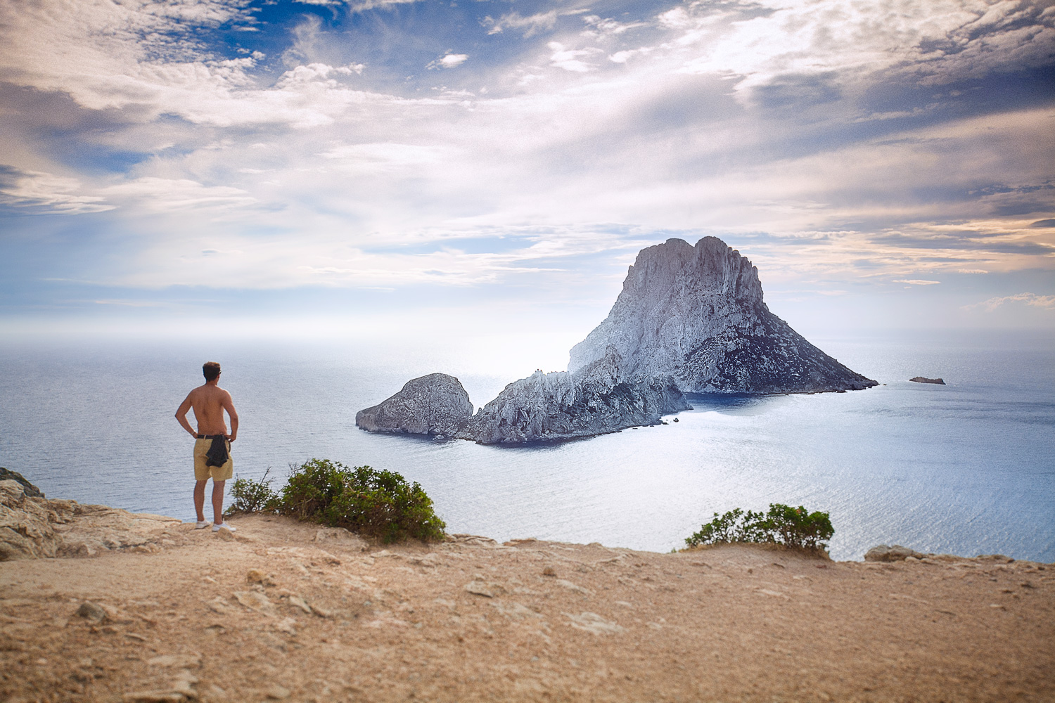 View-facing-Es-Vedra-Island,-Ibiza